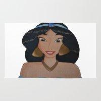 jasmine Area & Throw Rugs featuring Jasmine by Sierra Christy Art
