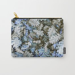 Pop of Color Leaves: Blue Carry-All Pouch