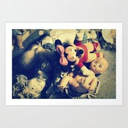 Doll Heap Art Print