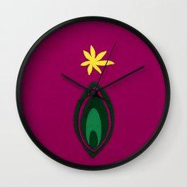 de Flower [fuchsia] Wall Clock