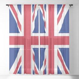 United Kingdom Flag UK British Patriotic Sheer Curtain