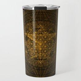 Dark Matter - Gold - By Aeonic Art Travel Mug