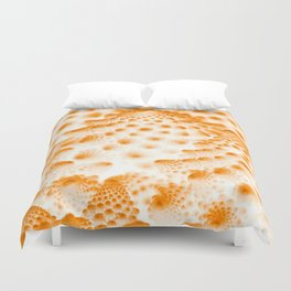 Orange Romanesco Rapture Duvet Cover