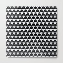 Cone Pattern White Black Metal Print