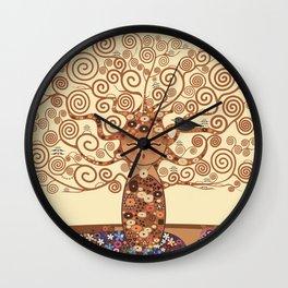 Kokeshi Tree of life Wall Clock