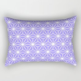 Cold Lilac Geometric Flowers and Florals Isosceles Triangle Rectangular Pillow