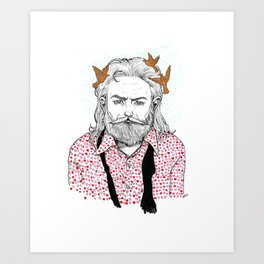 The guy who brought me all the hearts Art Print