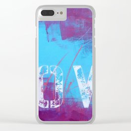 LOVE 0.3 Clear iPhone Case