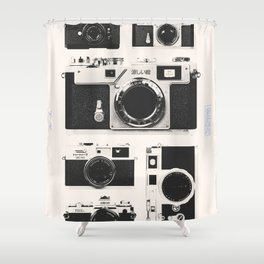 Cameras : 1950 / Japan Collection Shower Curtain