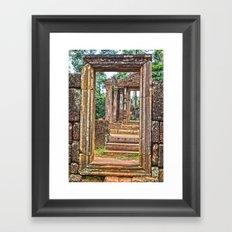 Temple Ruin Doorways Framed Art Print