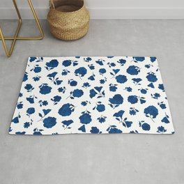 Medium Indigo Shadow Bloom Rug