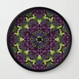 Acid Trip Fractal Kaleidoscope 1 Wall Clock