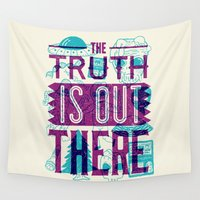 netflix Wall Tapestries featuring The Truth is Out There by Josh Ln