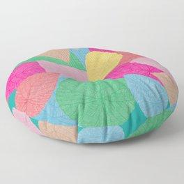 Candy Jar Cordate Leaf Pattern Floor Pillow