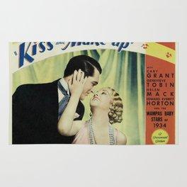 Vintage Movie Lobby Card, Kiss and Make-Up Rug