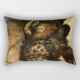 """My Hammer's Swing"" by Arthur Rackham Rectangular Pillow"