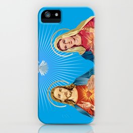 Jesus Christ and the Virgin Mary iPhone Case