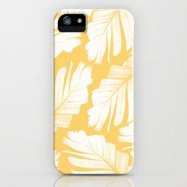 Yellow Banana Leaves Dream #1 #tropical #decor #art #society6 iPhone Case