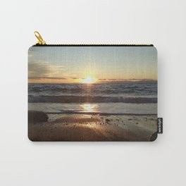 Sunset on The Beach In Torre Delle Stelle Carry-All Pouch