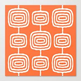 Mid Century Modern Atomic Rings Pattern 771 Orange Canvas Print