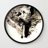 tokyo ghoul Wall Clocks featuring Ghoul by C A R E Y  M O R T O N