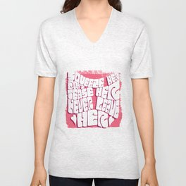 Squeeze her, don't tease her Unisex V-Neck