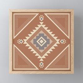 Modern Western Pattern in Hazel and Frost Gray Framed Mini Art Print