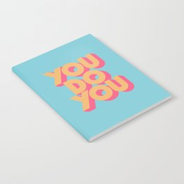 You Do You Retro Blue Notebook