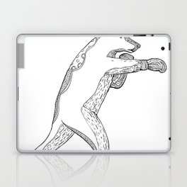 Grizzly Bear Boxing Doodle Art Laptop & iPad Skin