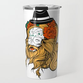 Bearded Women Girl Travel Mug