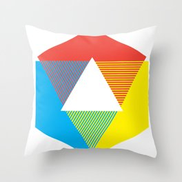 Color Wheel print, Color Chart Rainbow design by Christy Nyboer / Little Lark Throw Pillow