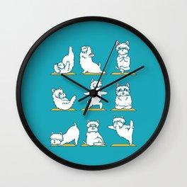 West Highland Terrier Yoga Wall Clock