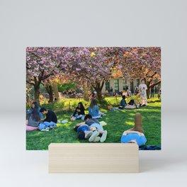 Washington Square Park Blossoms Mini Art Print