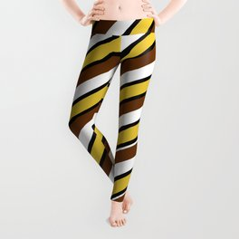 Team Colors...brown.gold,white and black Leggings