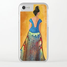 Turning Her Back on the Past Clear iPhone Case