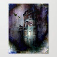 inside the haunted house Canvas Print