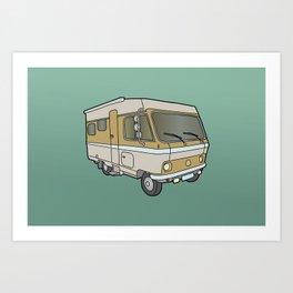 Caravan (mobile home) Art Print