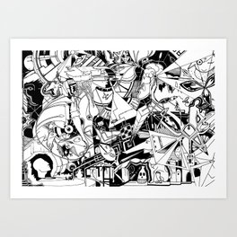 Organismo Meccanico Art Print
