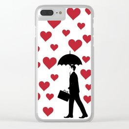 No Love Business Man Clear iPhone Case