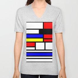 Cubism Painting Art Retro Pattern Unisex V-Neck