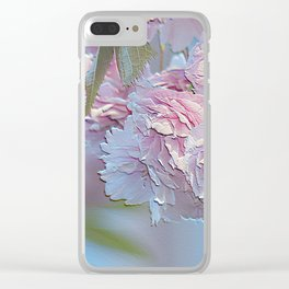 Double Cherry Blossom Clear iPhone Case