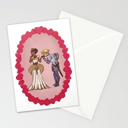 The Queen and Her Knight Stationery Cards