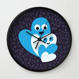 Happy Hearts Family Wall Clock