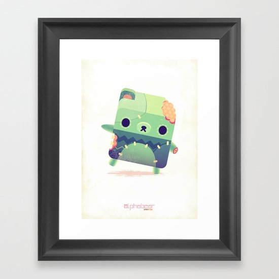Zombie Bear Framed Art Print
