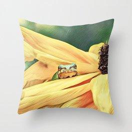 SneekaPeek Throw Pillow
