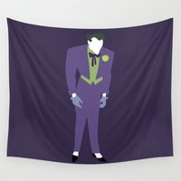 joker Wall Tapestries featuring Joker by karla estrada