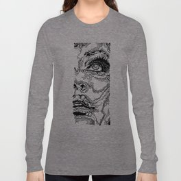 Topographic Face Long Sleeve T-shirt