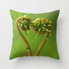 Ferns In Love... Throw Pillow