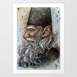 Wise Gnome Art Print
