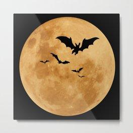 Halloween - Moon Metal Print